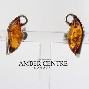 German Baltic Amber Handmade Studs in 925 Sterling Silver ST0104 RRP£40!!!