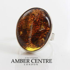 Handmade German Baltic Amber 925 Silver Elegant Ring WR144 RRP£95!!! Size P