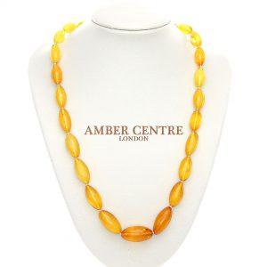 German Genuine Antique Baltic Amber Bead Unique Necklace - A0008- RRP£1750!!!