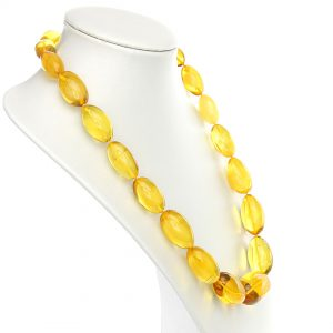 German Antique Genuine Baltic Amber Bead Necklace Large - A0009 - RRP£4995!!!