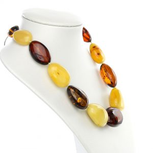 German Elegant Natural Baltic Amber Bead Necklace Large - A0014 RRP£2495!!!