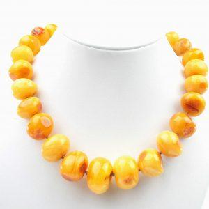 Antique Butterscotch German Baltic Amber Necklace 101 grams-A0016 RRP 3950!!!