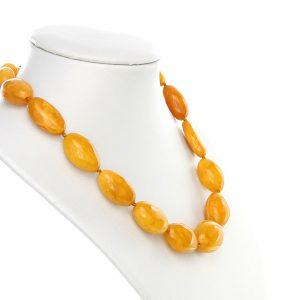 German Butterscotch Baltic Amber Unique Bead Necklace - A0017- RRP£2950!!!