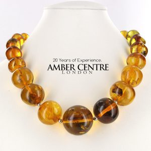 German Amber Beads Authentic with Insects / leaves Large - A0022 - RRP£2400!!!