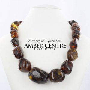 German Green Baltic Amber Unique Genuine Beads Necklace - A0048 RRP£1295!!!