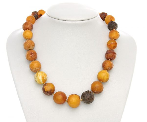 Genuine Antique German Baltic Amber Bead Necklace Large - A0049 - RRP£1295!!