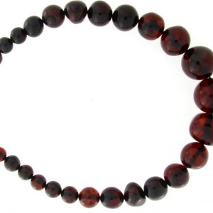 German Handmade Baltic Amber Deep Cherry Beaded Necklace -A0058 RRP£695!!!