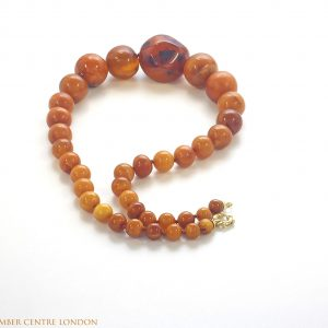 Antique Victorian Handmade German Baltic Amber Necklace A0068 RRP 2950!!!