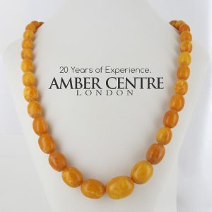 Antique German Baltic Amber Unique Butterscotch Beaded Necklace A0133 RRP£9950!!