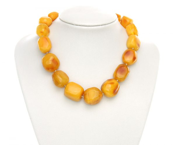 Genuine German Butterscotch Baltic Amber Bead Large Necklace - A0142 RRP£4500!!