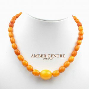 German Antique Konigsberg Baltic Amber Bead Necklace - A0185 RRP£2950!!!