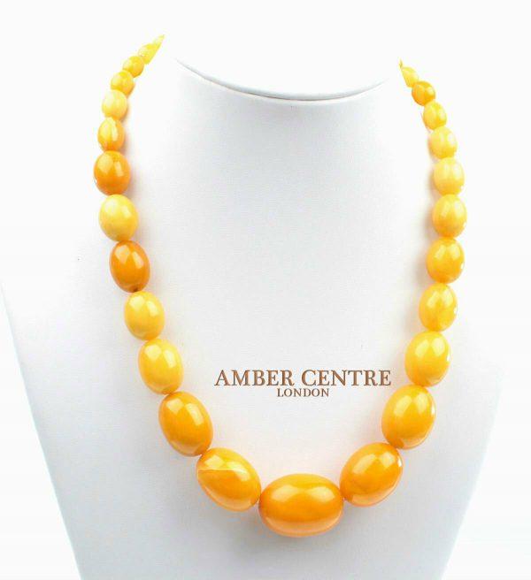Genuine Antique German Baltic Amber Unique Bead Necklace - A0192 RRP£3500!!!