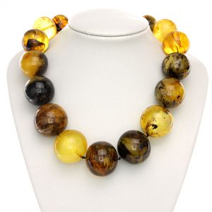 CERTIFIED German Unique Antique Amber Bead Necklace with Insects A0200 RRP£9000!!!