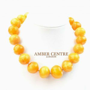 German Antique Butterscotch Baltic Amber Bead Large Necklace - A0221 RRP5900!!!