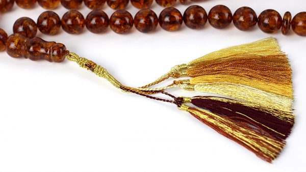 Genuine German Handmade Unique Baltic Amber Worry Beads - AW0030 RRP£1335!!!
