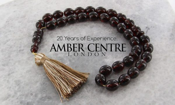 AMBER WORRY BEADS GENUINE GERMAN HANDMADE BALTIC Amber - AW0074 RRP£295!!!