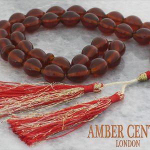 Genuine German Handmade Baltic Amber Worry Beads - AW0079 RRP£350!!!