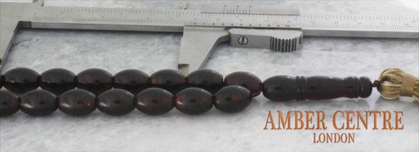 Worry Beads Genuine German Dark Cherry Baltic Amber - AW0083 RRP£395!!!