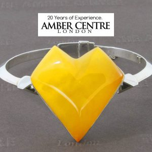 German Made Butterscotch Antique Baltic Amber Bangle Solid 925 Sterling SILVER – BAN037 RRP£595!!!
