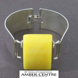 German Made Butterscotch Antique Baltic Amber Bangle 925 Solid Sterling SILVER –BAN039 RRP£1000!!!