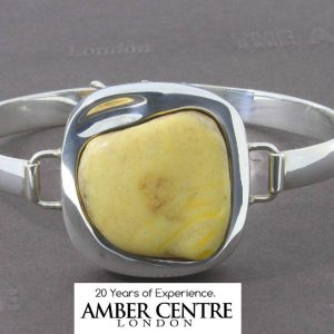 German Made Butterscotch Antique Baltic Amber Bangle 925 Solid Sterling SILVER –BAN041 RRP£495!!!
