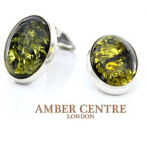 Clips on Earrings German Baltic Amber 925 Silver Handmade CL018 RRP£70!!!