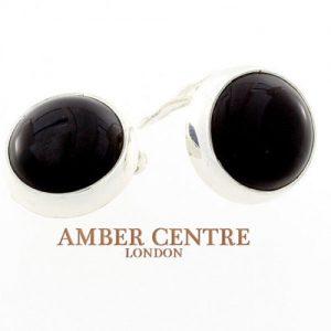 Italian Made Baltic Dark Cherry Amber Clip on Earrings 925 Silver Handmade CL028 RRP£70!!!