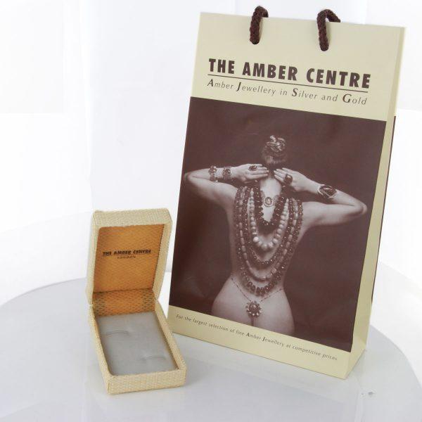 Italian Made German Baltic Amber Cufflinks In Solid 9ct Gold GF003 RRP£495!!!