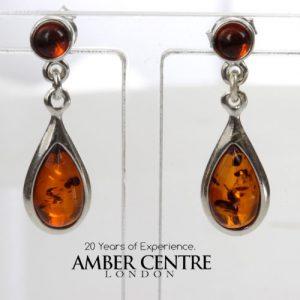 Italian Style German Baltic Amber Elegant Earrings 925 Silver E0003 RRP £30!!!