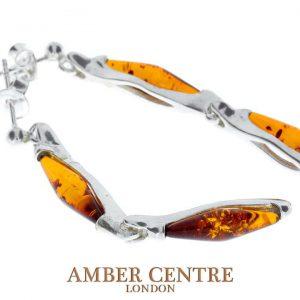 Italian Style German Baltic Amber Handmade Earrings 925 Silver E0008 RRP£45!!!