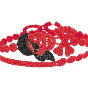 Cruciani Red & Black Pirate Bracelet