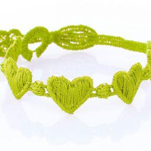 Lime Green Cruciani Kids Heart Bracelet