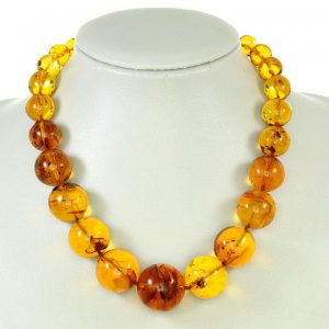 German Genuine Amber Beads with Insects Natural Museum of London Verified - A0371 RRP£6500!!!