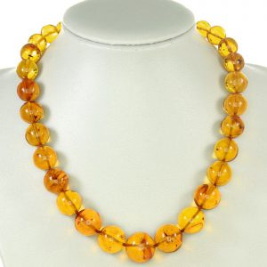 Rare Collectable German Museum Verified Genuine Amber Beads With Insects A0374