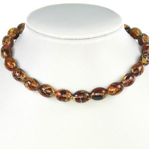 German Baltic Amber Beads Mosaic Unique designer Genuine - A0095 RRP£220!!!