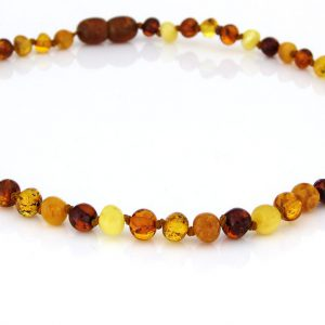 Teething Baby/Child Necklace Genuine Natural Multicoloured Baltic Amber A09203 RRP£25!!!