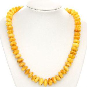 German Butterscotch Amber Bead Necklace Diamond Cut 58 gr - A0158 RRP£3499!!!