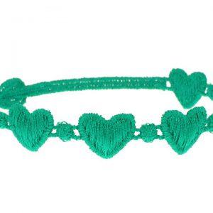 Cruciani Turquoise Green Hearts Bracelet