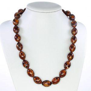 German Baltic Amber Mosaic Unique designer Genuine Beads - A0013 RRP£695!!!