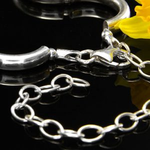 """ITALIAN Made Sterling Silver Link Chain/Necklace 18""""/45cm - SS003 RRP£75!!!"""