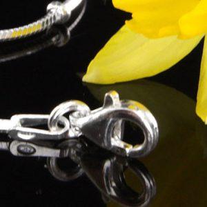 """Italian Bracelets 925 Silver Snake Chain +Silver elements 8""""/20cm - CH044 RRP£30!!!"""