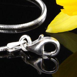 """Italian Bracelets 925 Silver Snake Chain +Silver elements 7""""/17.5cm-CH066 RRP£30!!!"""