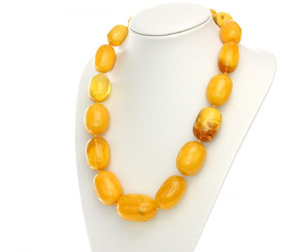 Antique German Baltic Amber Unique Bead Necklace Large- A0131 RRP£30000!!!