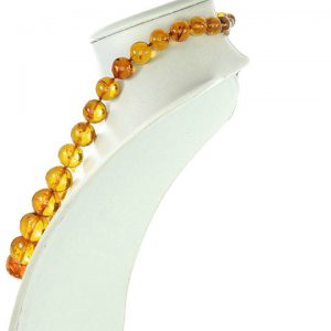 German Genuine Amber Beads with Insects Museum Verified - A0372 RRP£8250!!!