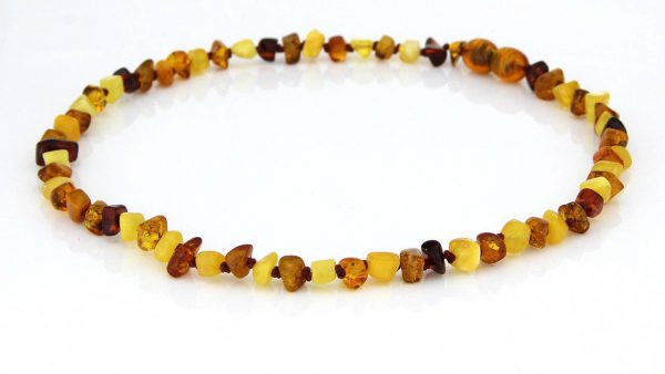 Teething Baby/Child Necklace Genuine Natural Multicoloured Baltic Amber A09163 RRP£25!!!