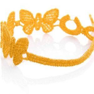 Yellow Cruciani Kids Butterfly Bracelet
