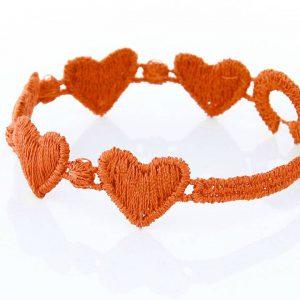 Orange Cruciani Kids Heart Bracelet