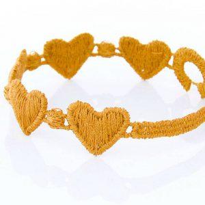 Yellow Cruciani Kids Heart Bracelet