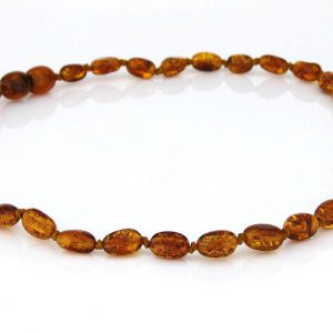Teething Baby/Child Necklace Genuine Natural Cognac Baltic Amber A09148 RRP£25!!!