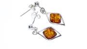 Italian Style German Elegant Baltic Amber Earrings 925 Silver E0004 RRP£30!!!